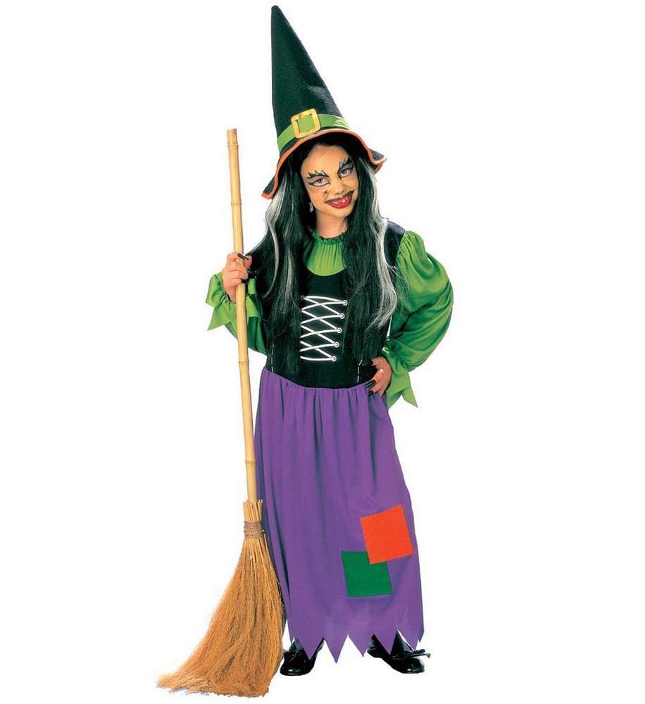 heksekostume til børn fastelavnskostume heks halloween udklædning farverigt hekse kostume ond heks udklædning