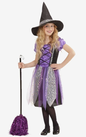 lilla heksekostume til børn 284x450 - Hekse kostume til børn