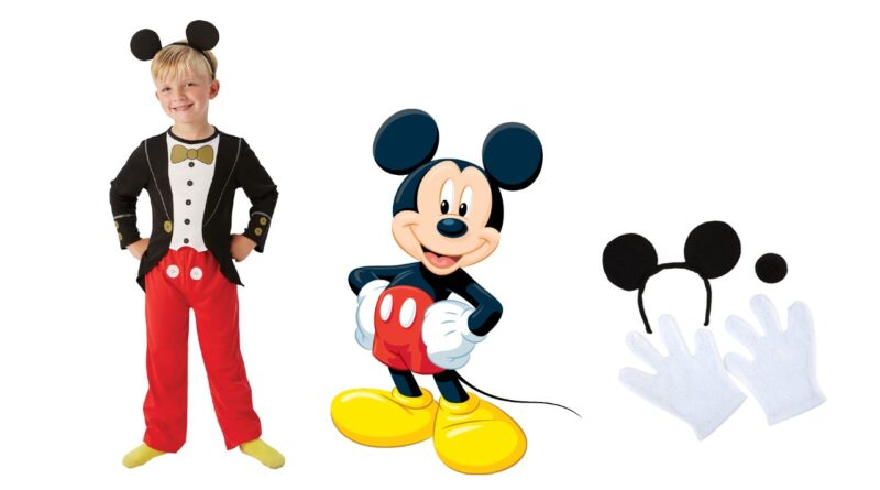 mickey mouse børnekostume mickey mouse fastelavnskostume