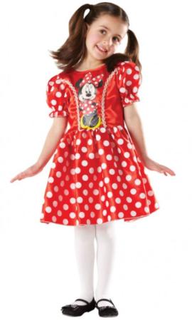 minni mouse kjole rød minnie mouse udklædningskjole