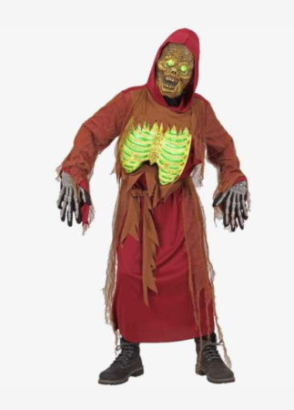 selvlysende halloween kostume til børn zombie børnekostume