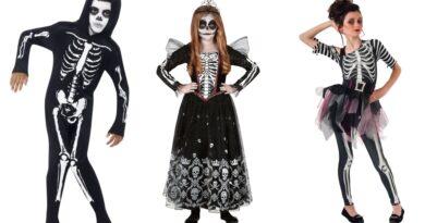 skelet kostume til børn, skelet udklædning til børn, skelet kostumer, skelet børnekostumer, skelet fastelavnskostume til børn