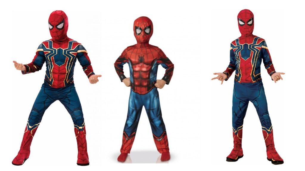 spiderman børnekostume superhelte kostume til børn fastelavnskostume til drenge