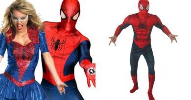 spiderman kostume til voksne collage