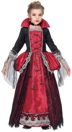 vampyr dronning luksus kostume til pigeer halloween luksus børnekostume