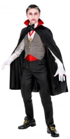 vampyr komplet fastelavnskostume vampyr børnekostume halloween kostume til drenge