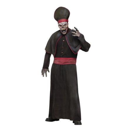 zombie kardinal zombie præst kostume religiøs zombie haloween kostume