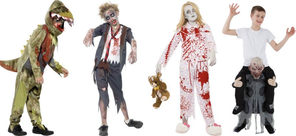 zombie kostume til børn halloween børnekostume udklædning til halloween zombie uhyggeligt børnekostume