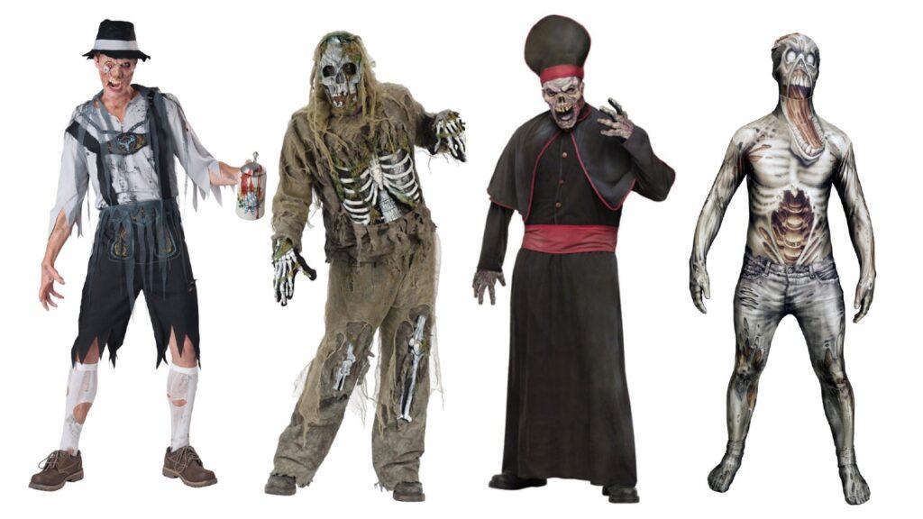 zombie kostume til halloween zombie kostume til voksne halloween kostume til mænd