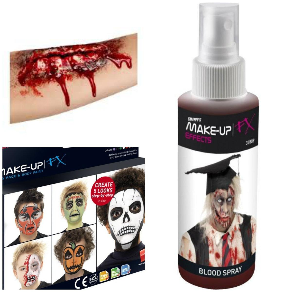 zombie kostume tilbehør halloween falsk blod falsk sår teaterblod halloween makeup
