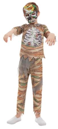 zombie mumie kostume til børn mumie udklædning til fastelavn og halloween