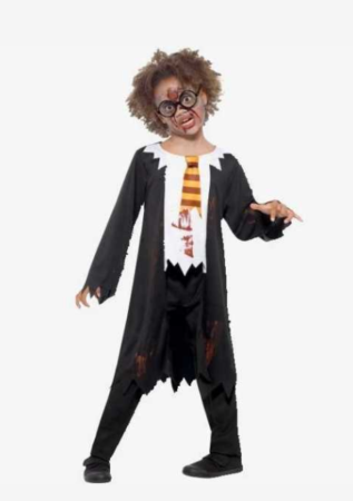zombie troldmand kostume harry potter halloween kostume