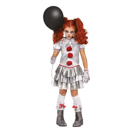 CARNEVIL KILLER CLOWN PIGEKOSTUME 450x450 - Uhyggeligt klovne kostume til børn