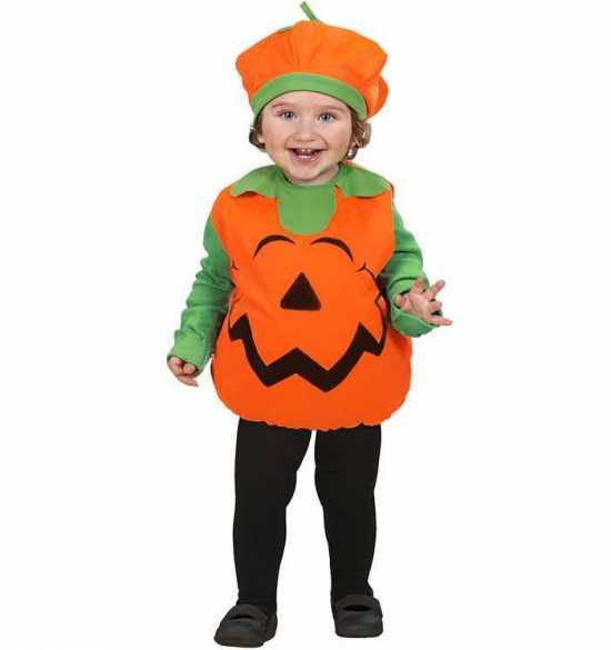 Græskar babykostume 1 - Halloween kostume til baby