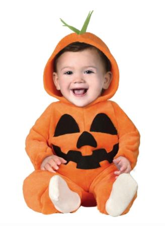 Græskar heldragt til baby 328x450 - Græskar kostume til baby