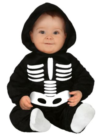 skelet babykostume halloween babykostume skelet babykostume halloween udklædning til baby 6 mdr halloween kostume