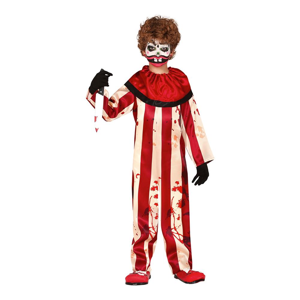 blodig klovn børnekostume - Uhyggeligt klovne kostume til børn