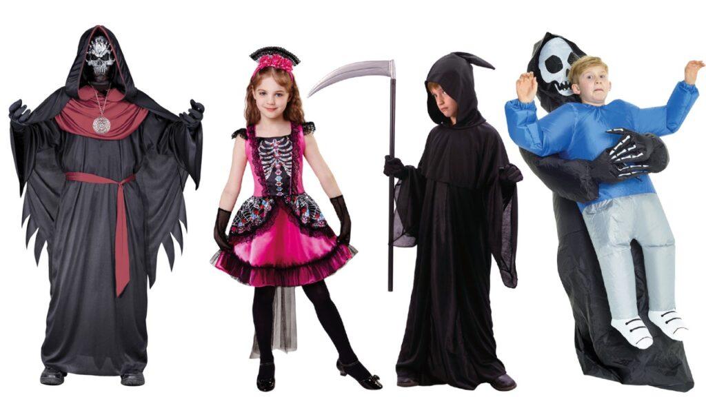 døden børnekostume billigt halloween kostume barn