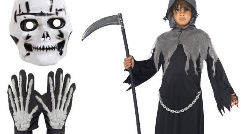 døden kostume til børn, døden udklædning til børn, døden børnekostume, døden halloween kostume til børn, uhyggelige halloween kostumer til børn, uhyggelig kostumer til børn, dødens brud kostume til børn, dødens ballerina kostume til børn, manden med leen kostume til børn, halloween børnekostumer, kostume universet