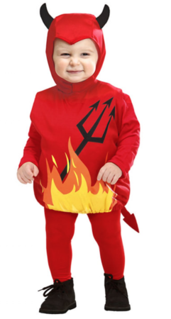 djævel babykostume 241x450 - Djævel kostume til børn og baby