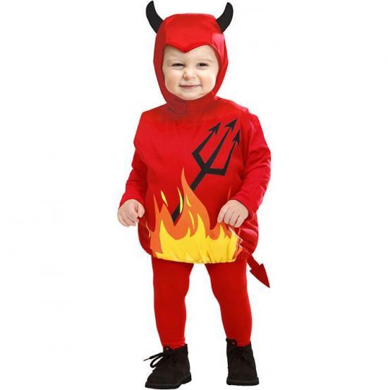 djævel babykostume - Halloween kostume til baby