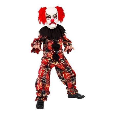 farlig klovn luksus kostume til børn til halloween