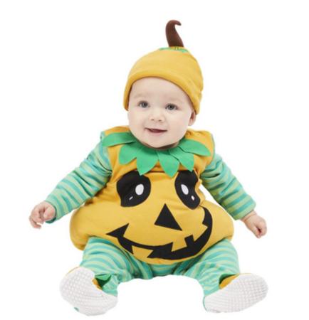 græskar babykostume 434x450 - Græskar kostume til baby
