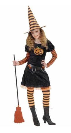 græskar heks kostume til piger halloween kostume til piger