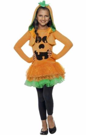 græskar kostume til børn græskar kostume til piger græskar børnekostume halloween kostume