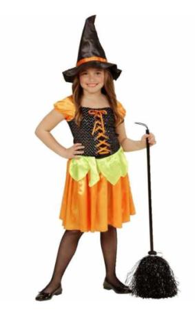 græskar kostume til børn græskar kostume til piger græskar børnekostume halloween kostume til piger