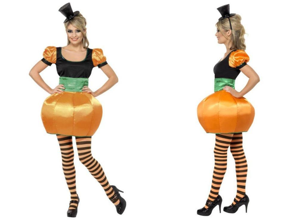 græskarkostume til voksne græskar kostume kvinder græskarudklædning halloweenudklædning