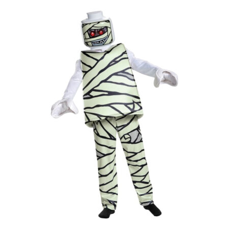 lego mumie børnekostume lego halloween kostume