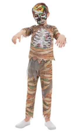 mumie kostume mumie zomnie halloween kostume til drenge kostumeuniverset mumie halloween udklædning til barn