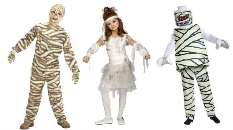 mumie kostume til børn, mumie børnekostume, mumie udklædning til børn