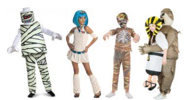mumie kostume til barn egyptisk kostume til barn halloween børnekostume mumie kostume til piger