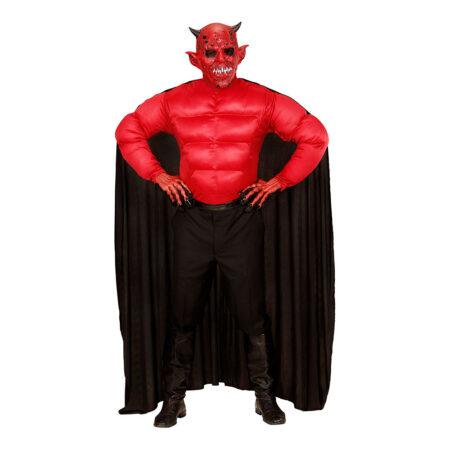 muskuløs djævel kostume til mænd djævel maske halloween maske