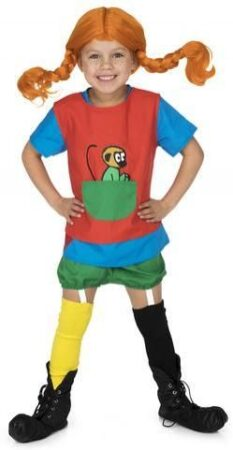 pippi langstrømpe kostume 233x450 - Pippi langstrømpe kostume til børn