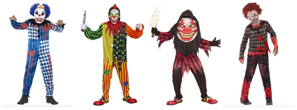 uhyggelig klovn kostume til børn uhyggeligt klovnekostume til børn dræber klovn børnekostume gyserklovn udklædning