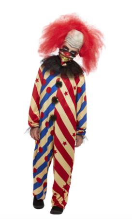 uhyggeligt klovne kostume til børn 273x450 - Uhyggeligt klovne kostume til børn