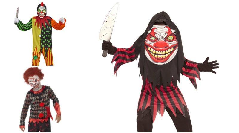 uhyggeligt klovnekostume til børn gyserklovn dræberklovn kostume børnekostume farlig klovn kostume dræberklovn halloween kostume