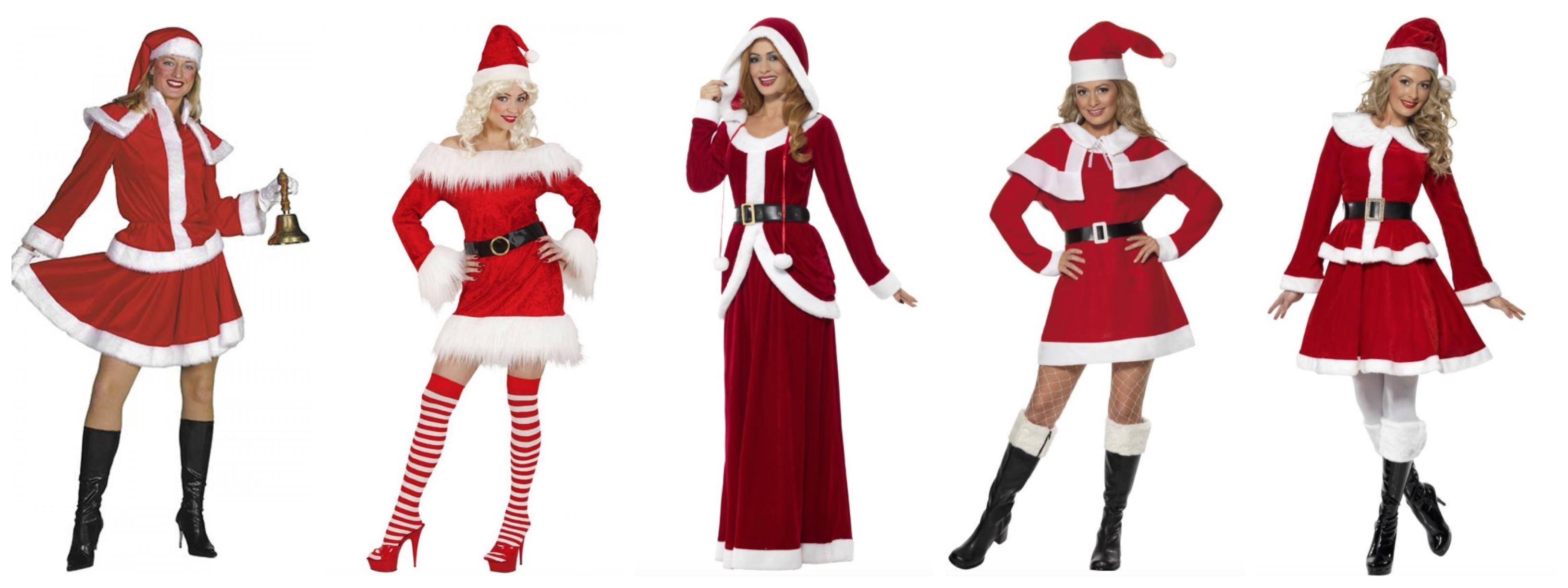 Julemandens kone kostume til voksne - Julemands kone kostume til voksne