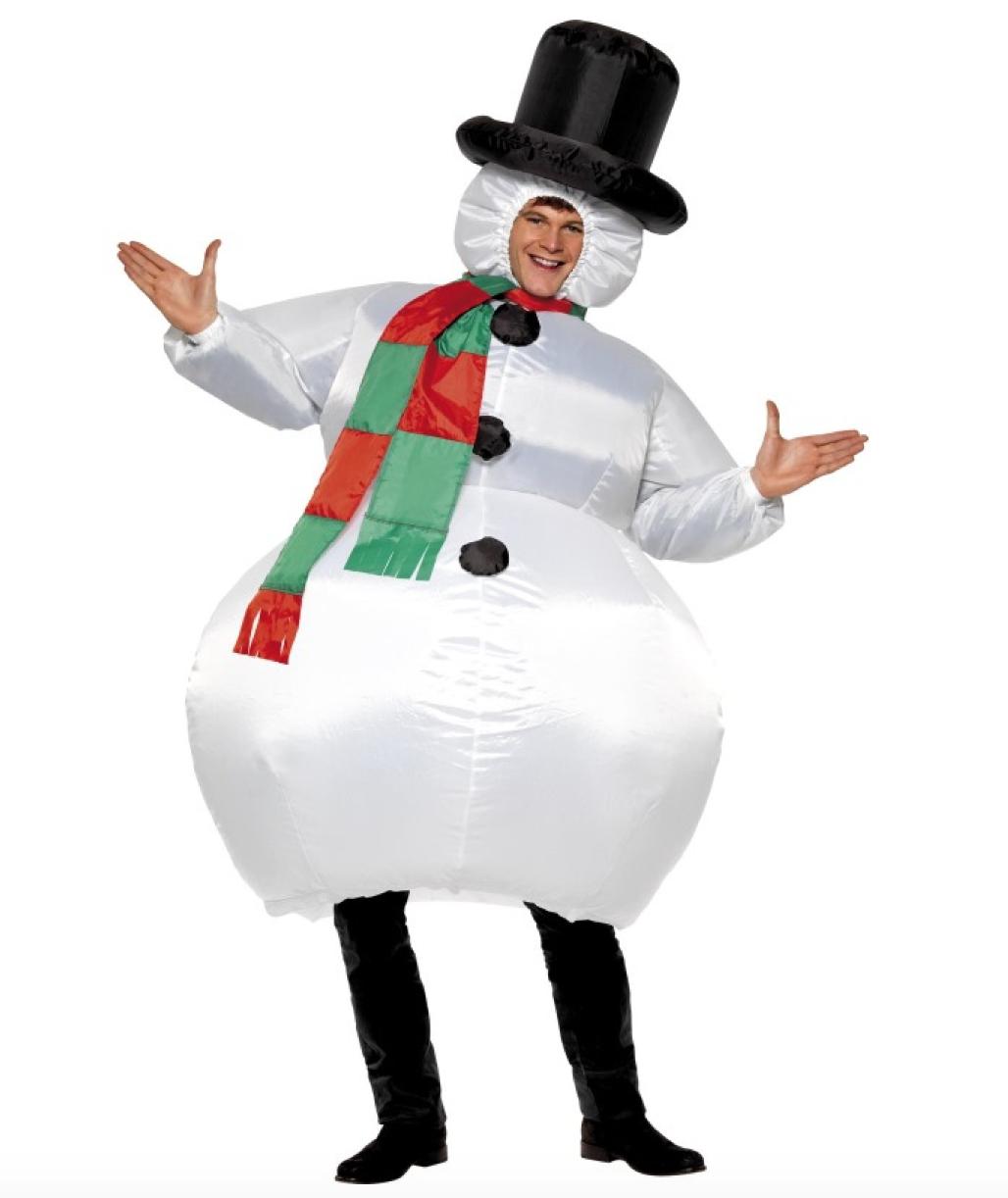 Oppustelig snemand kostume - KostumeUniverset