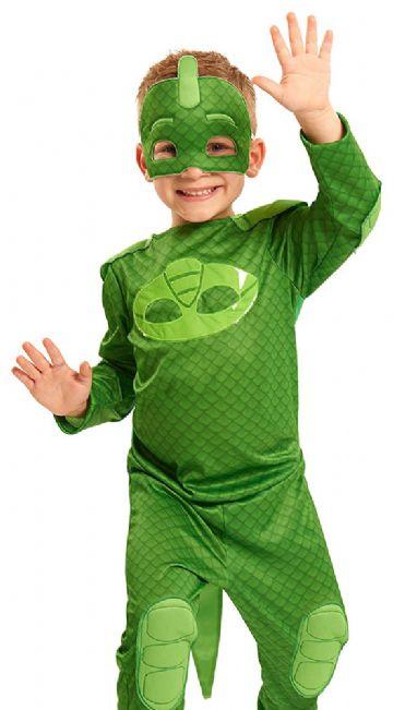 PJ Masks Pyjamasheltene kostume til børn PJ Masks Pyjamasheltene udklædning PJ Masks Pyjamasheltene fastelavnskostume PJ Masks Pyjamasheltene Geggo Gekko kostume