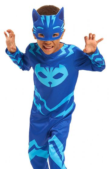 PJ Masks Pyjamasheltene kostume til børn PJ Masks Pyjamasheltene udklædning PJ Masks Pyjamasheltene fastelavnskostume PJ Masks Pyjamasheltene kattedrengen kostume