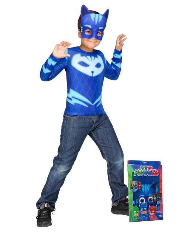 PJ Masks blå pyjamashelt kostume til børn fastelavnskostume superhelt kostume