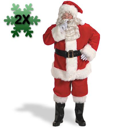 Professionelt julemandskostumer plus size - Julemandskostume til voksne
