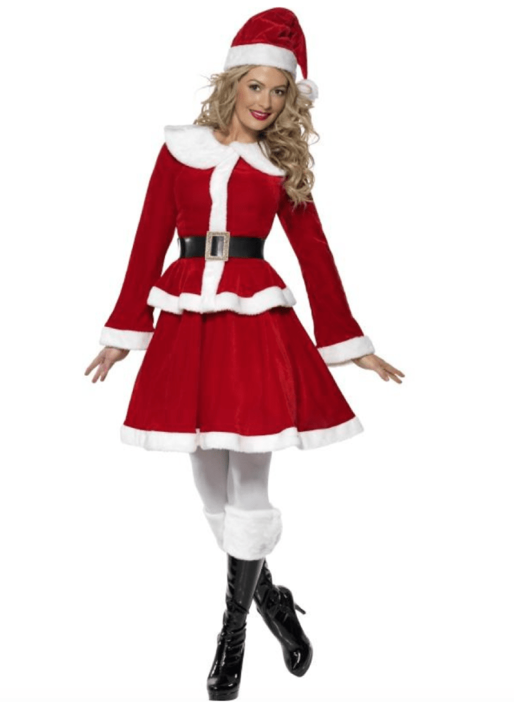 Skærmbillede 2017 10 16 kl. 13.38.51 750x1024 - Julemands kone kostume til voksne