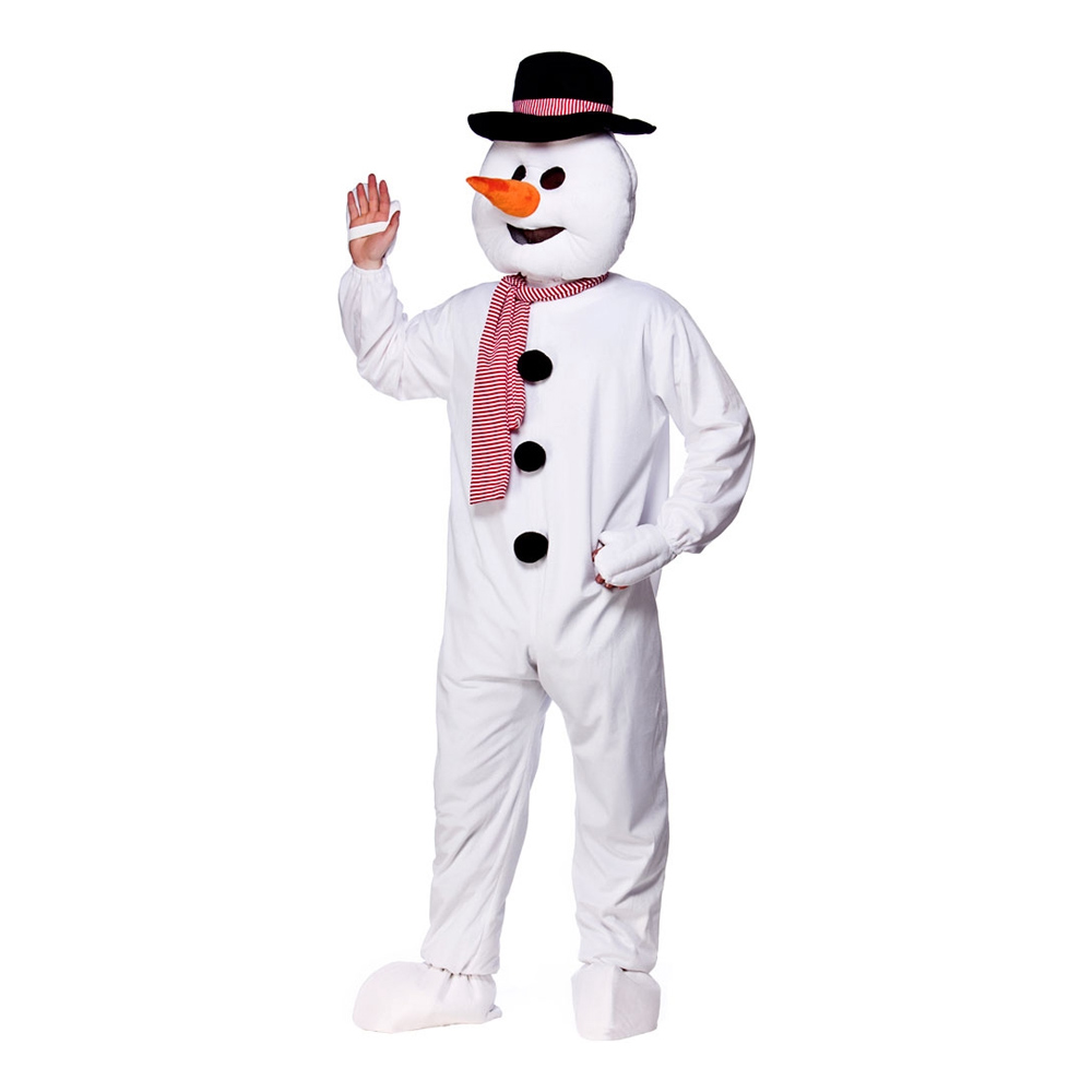 Snemand maskot kostume til voksne - Snemand kostume til voksne