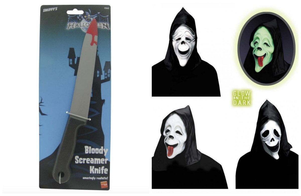 collage 4 - Scream kostume til børn og voksne