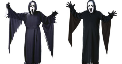 scream kostume til børn, scream kostume til voksne, scream udklædning til børn, scream udklædning til voksne, scream kostumer, scream tøj, scream maske, scream masker, halloween kostume, seriemorder kostume, kostume universet, sort kostume, sorte kostumer